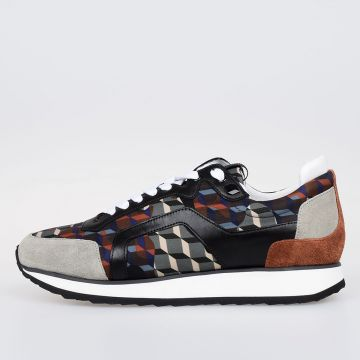 Leather and Nylon CAMOCUBE Sneakers