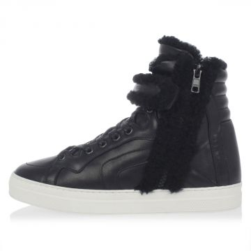 Leather shearling Sneakers
