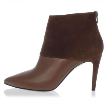 Suede Leather Ankle Boots 8 cm heel