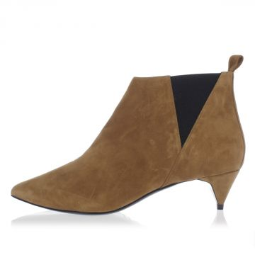 Suede Leather Ankle Boots 4 cm heel