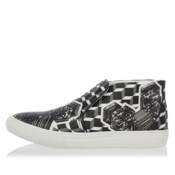 Leather CANVAS CRYSTAL CUBE Sneakers
