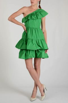 One Shoulder Dress with Frill