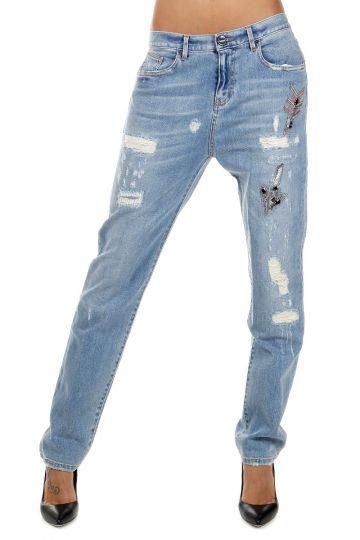 """Jeans """"QUENTIN"""" Denim Destroyed 17 cm"""