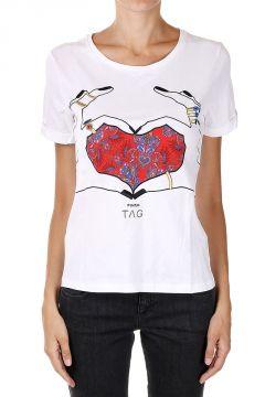 T-shirt VESTA con Ricamo Cuore