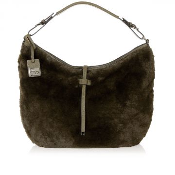 BORA Fake Fur Hobo Bag