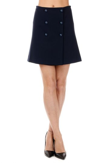 Stretch HUNTIK Miniskirt with Buttons