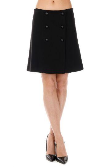 Stretch HUNTIK Miniskirt with Buttons