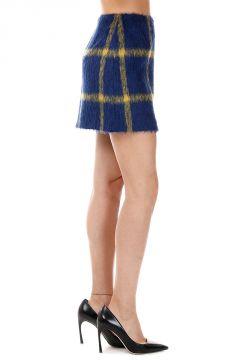 Mixed Wool Jacquard YAKON Miniskirt