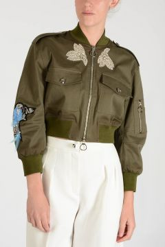 Embroidered ROTTOFRENO Bomber with Strass