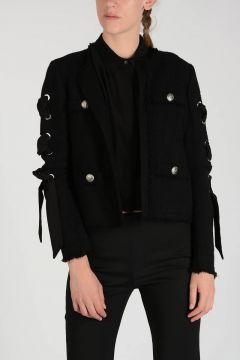 Mixed Cotton CHOW CHOW Blazer with Stud