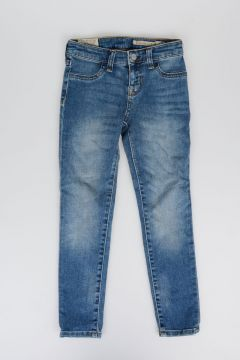 Jeans in Denim di Cotone Stretch 10 cm