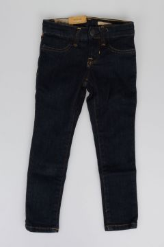 Jeans in Denim di Cotone Stretch 9 cm