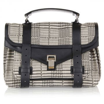 Houndstooth pattern Shoulder Purse