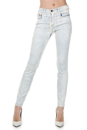 Jeans Ultra Skinny in Denim Stretch Bright Indigo 13 cm