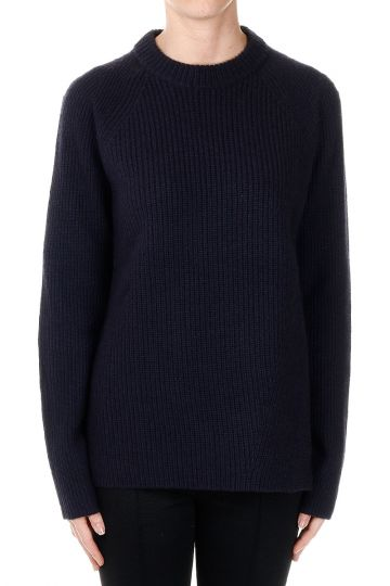 Wool and Cashmere Round Neck Sweater