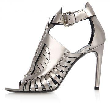 Leather BOHEME PumpS Sandals 10 cm