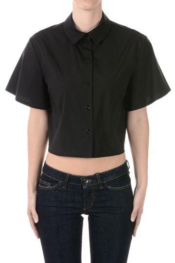 Camicia Corta in Popeline di Cotone
