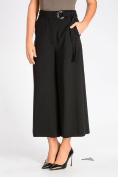 Stretch Wool CROPPED CULOTTES Pants