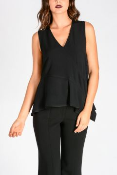 Flared Asymmetric Cut Top