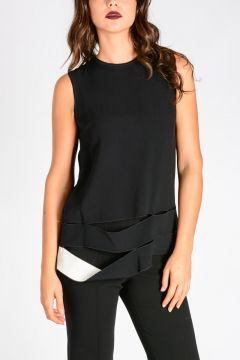 Crepe Sleeveless  Top