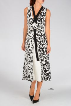 Abstract Printed Cady Dress