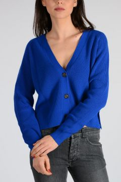 Cashmere and Cotton Blend Cardigan