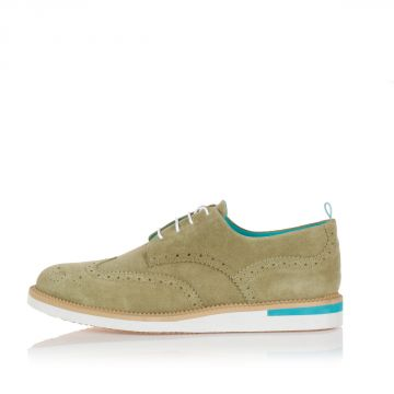 ANDREA LOW LISK Suede laced shoes