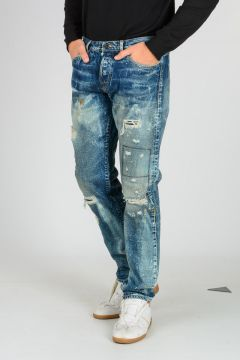 Jeans MIKE in Denim Selvedge Stonewashed 18 cm