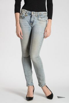 Jeans ALISON CROP In Denim stretch 13 cm