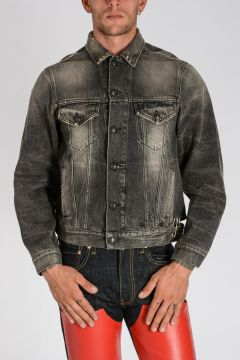 Denim PINNED WAISTBAND TRUCKER Jacket
