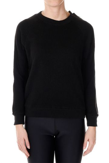 Zipped sleeves Round Neck Sweatshirt