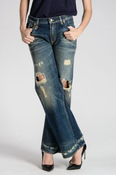 JANE Jeans with Scratches 27 cm