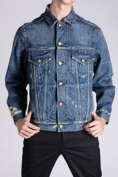 Denim EMBROIDERED REBEL TRUCKER Jacket