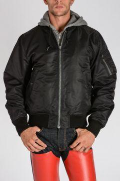 Nylon HOODED FLIGHT Jacket
