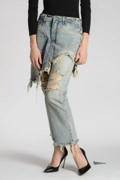 Jeans DOUBLE CLASSIC in Denim stretch 20 cm