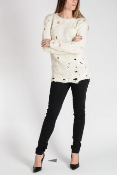 Wool & Alpaca Sweater with Holes
