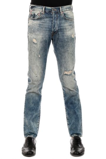 DENIM & SUPPLY 18 cm Slim-Fit Vintage Effect Denim Jeans
