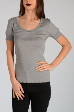 Ribbed Cotton ADRIANNE T-shirt