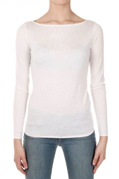Cashmere and Silk Boatneck Sweater