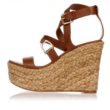 Leather FIAMETTE Sandals Wedge 12 cm