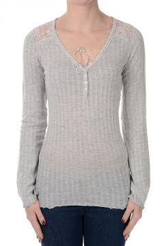 T-Shirt a Maniche Lunghe Misto Cotone