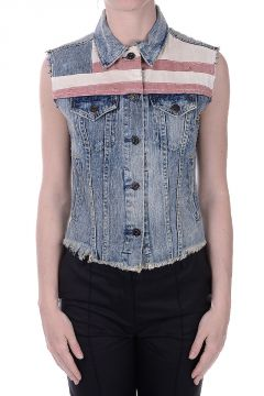 DENIM & SUPPLY Cropped Denim Vest