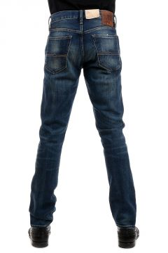 Jeans Low Skinny Fit in Denim Lavaggio Scuro 18 cm