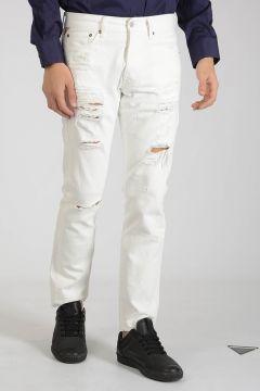 DENIM & SUPPLY 18cm Denim Slim Distressed Jeans
