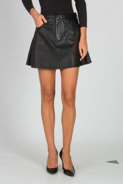 DENIM & SUPPLY Leather Mini Skirt