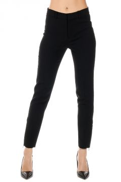 Pantalone in Lana Stretch con Zip alle Caviglia