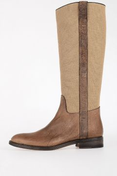 Leather & Fabric KUDU Boots