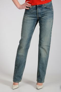 Jeans in Denim di Cotone 19 cm