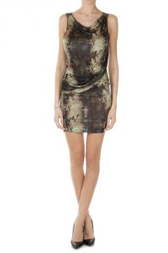 Drapery Sleeveless Dress