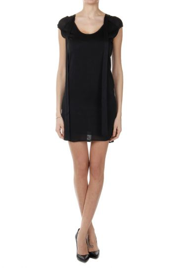 Self Tie Collar Sleeveless Dress